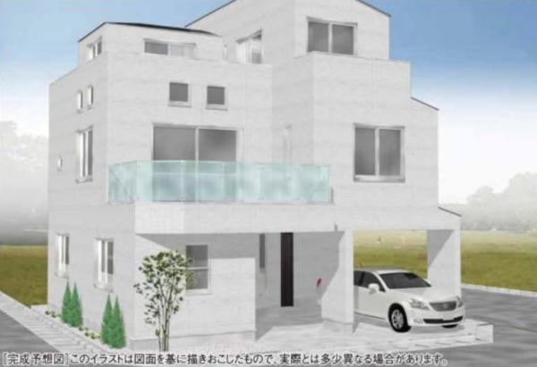 高円寺の新築一戸建。もうすぐ完成です。